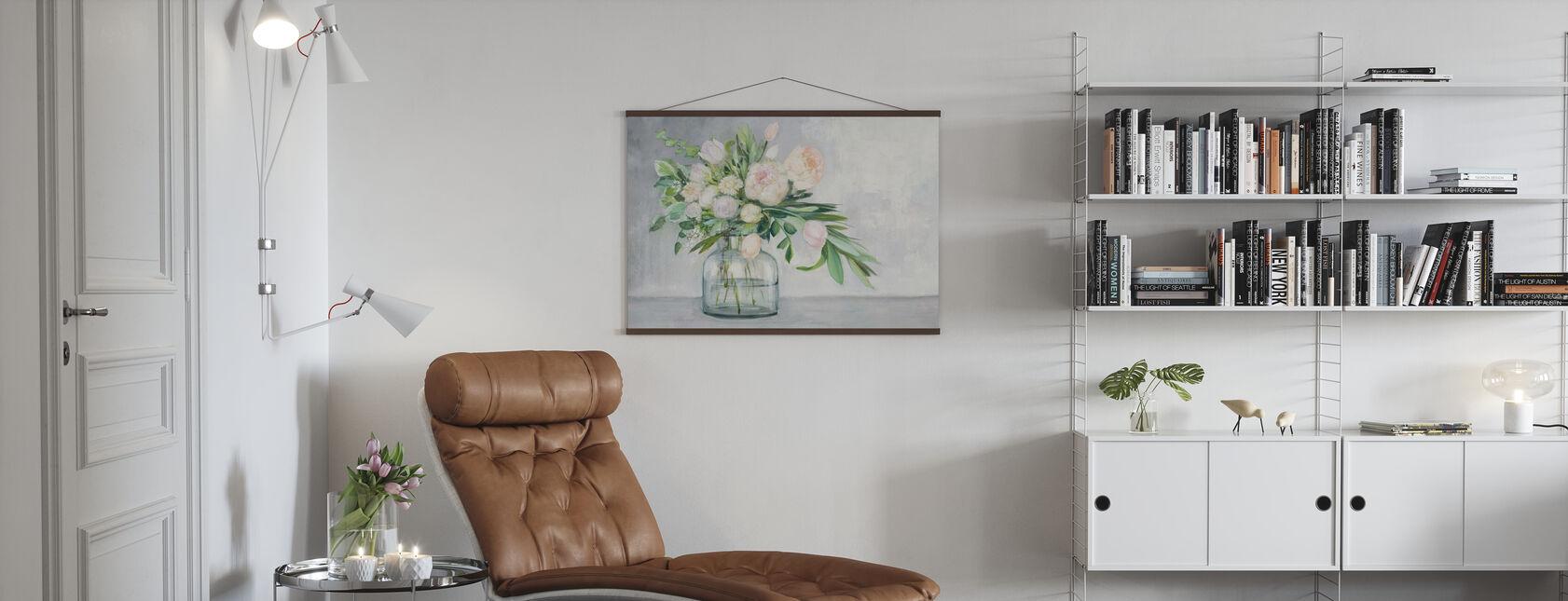 Rouge Frühlingsstrauß - Poster - Wohnzimmer