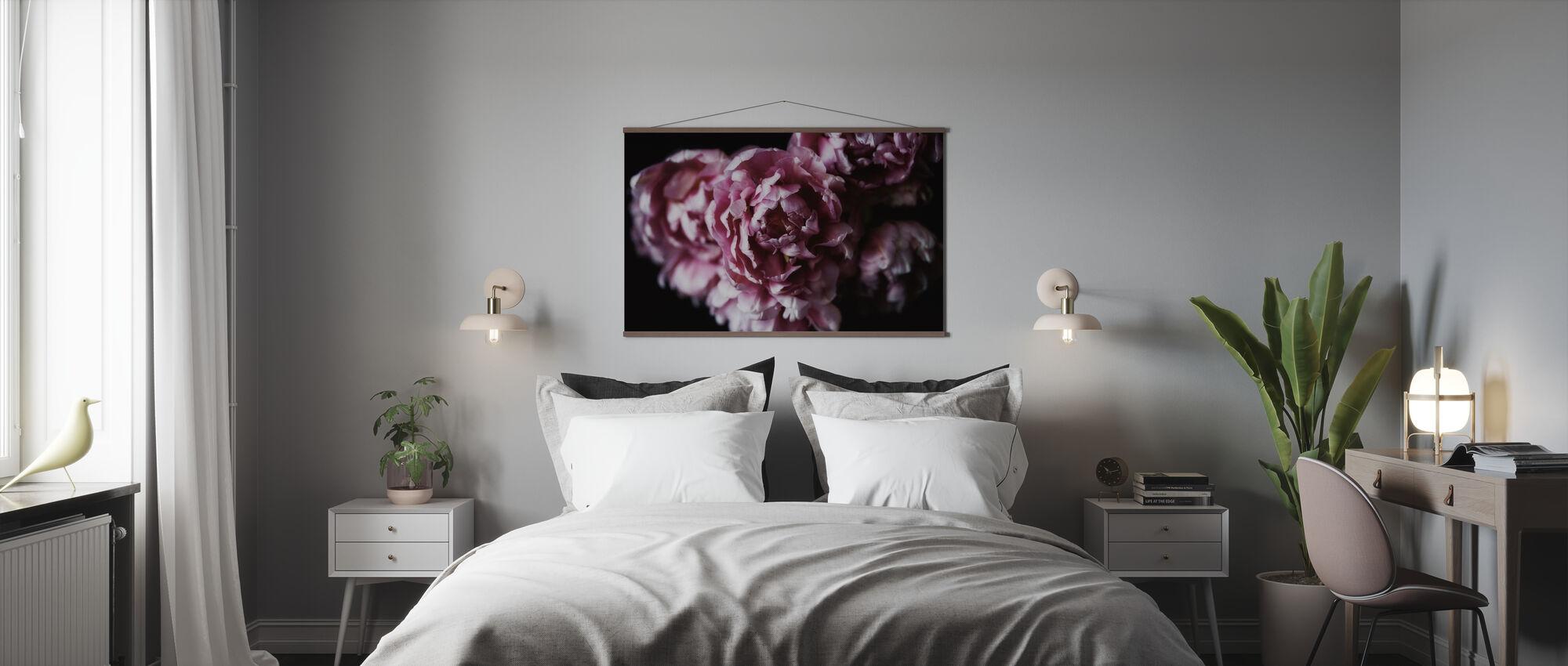 Pink Double Tulips - Poster - Bedroom