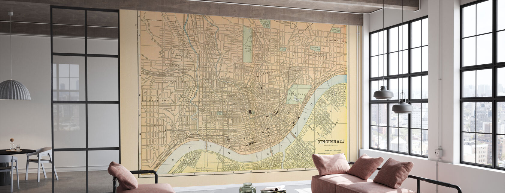 Map of Cincinnati - Wallpaper - Office