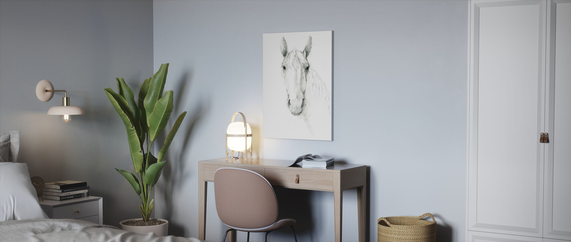 Horse Sketch - Canvas print - Office