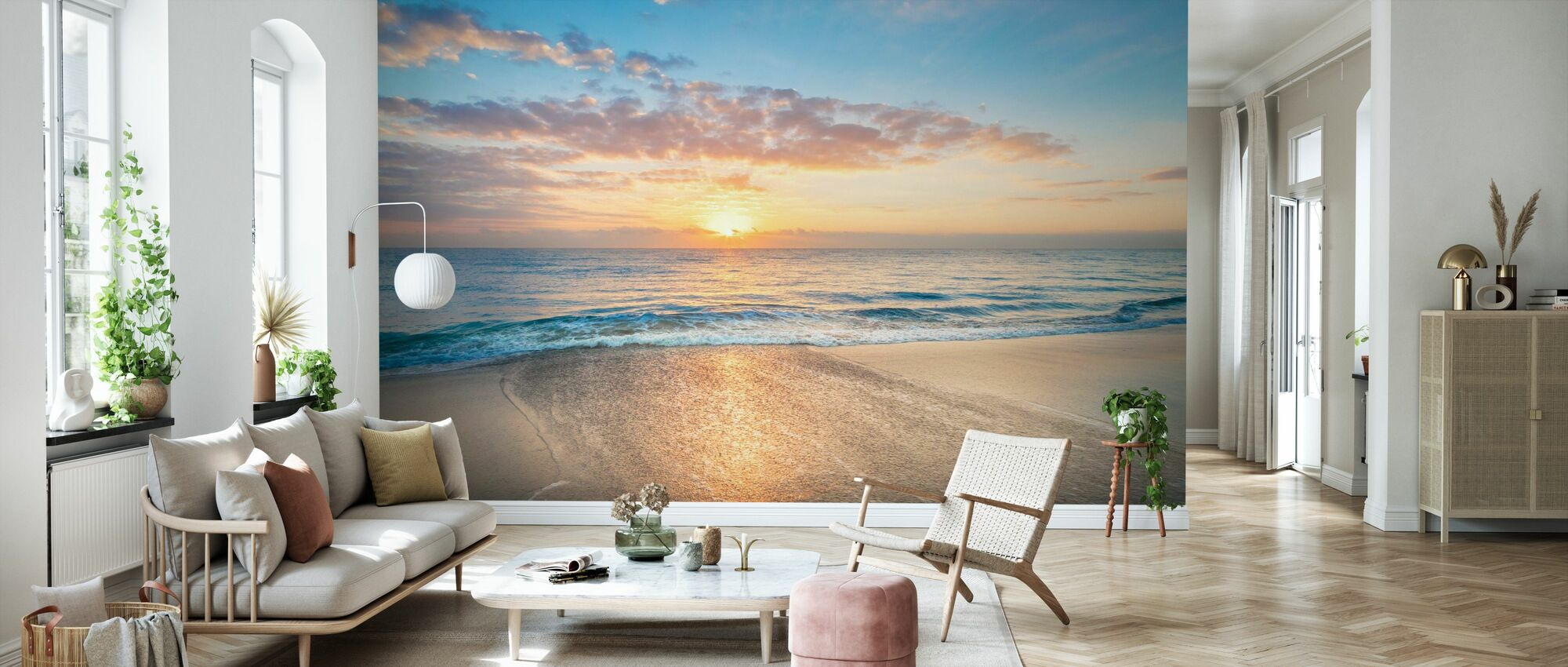 Gentle Waves - Wallpaper - Living Room