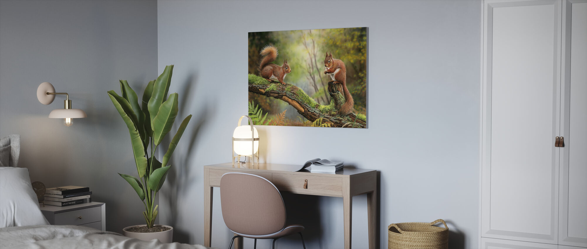 Red Squirrels - Canvas print - Office