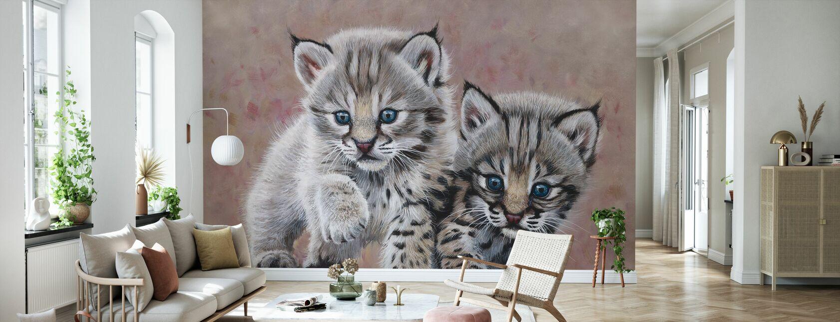 Bobcat babyer - Tapet - Stue
