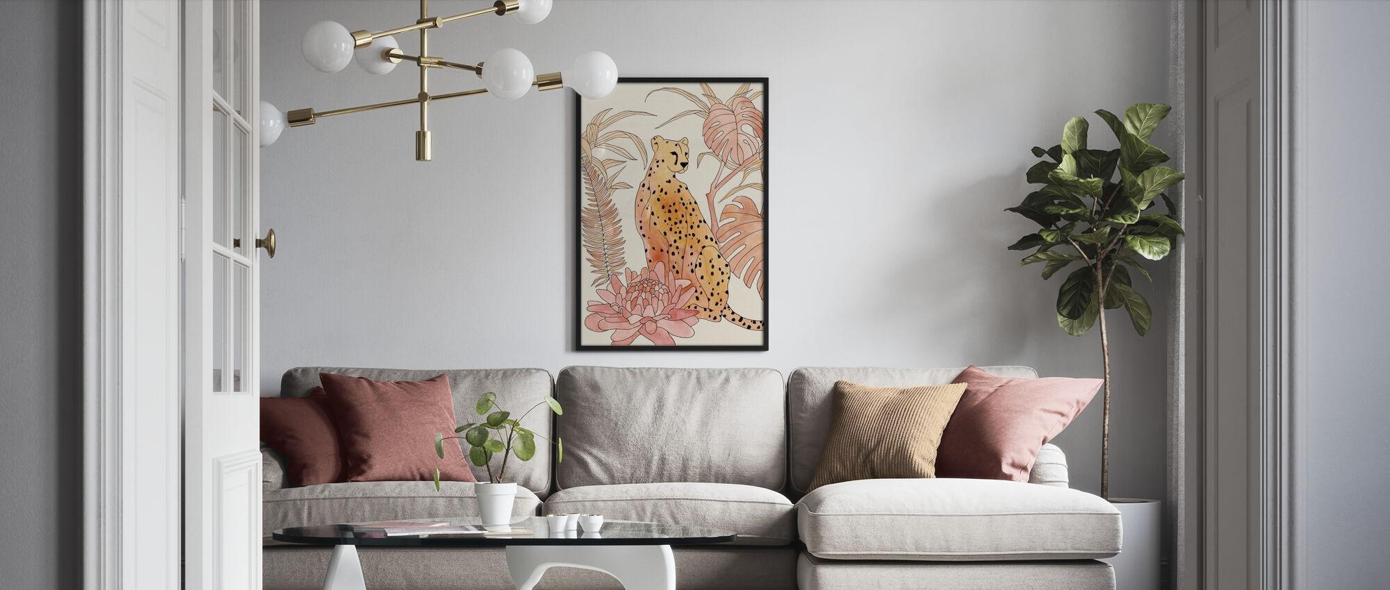 Blush Cheetah - Poster - Living Room