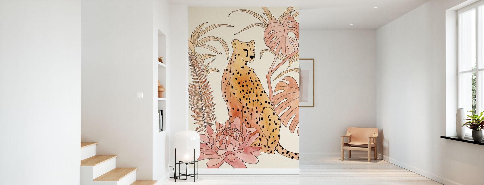 Blush Cheetah - Wallpaper - Hallway