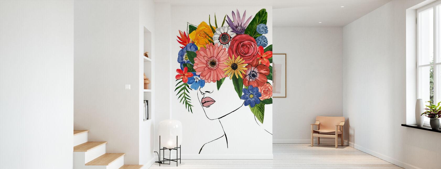 Dama de las Flores - Papel pintado - Corredor