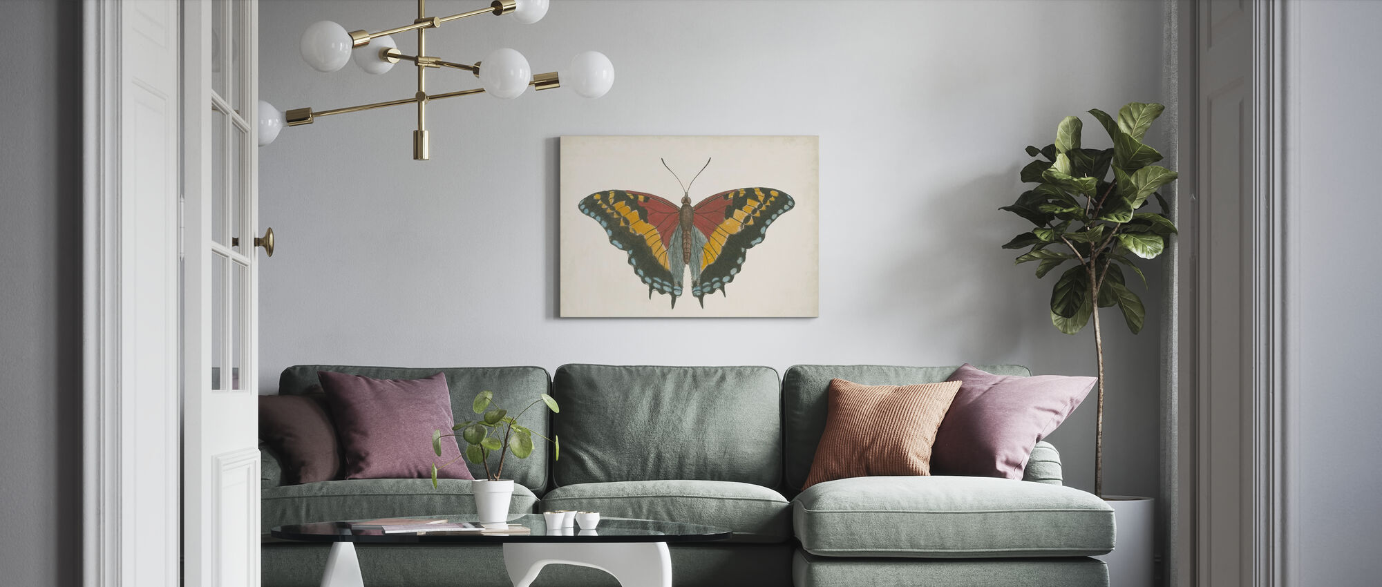 Beautiful Butterfly II - Canvas print - Living Room