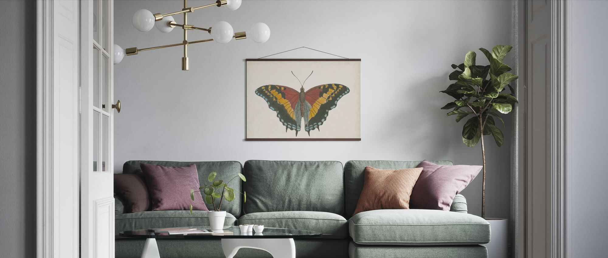 Beautiful Butterfly II - Poster - Living Room