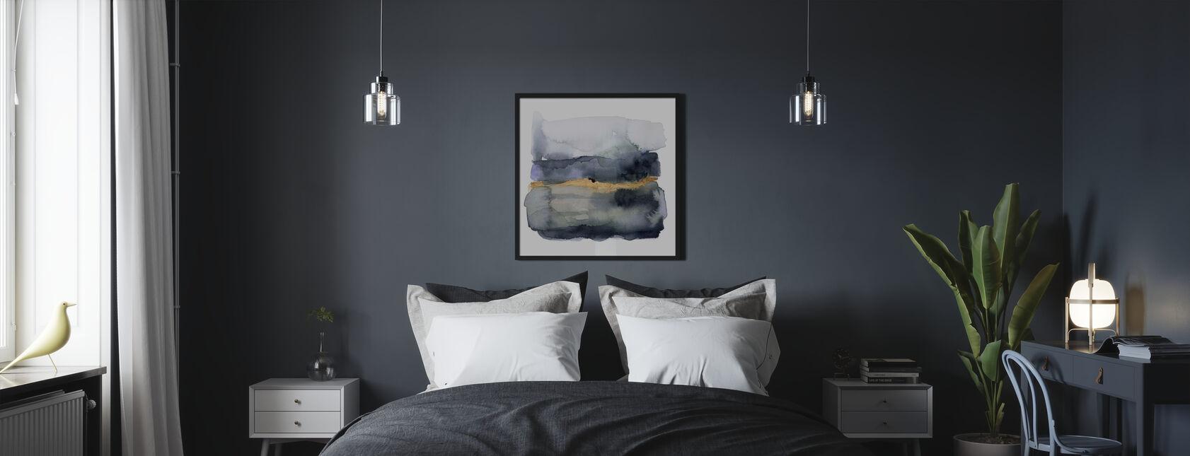 Kultainen indigo - Kehystetty kuva - Makuuhuone