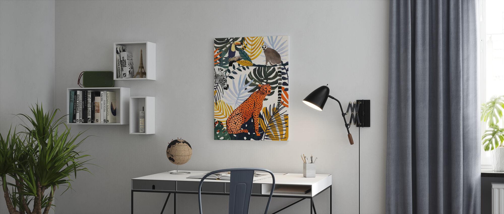 Dschungel Jumble - Leinwandbild - Büro