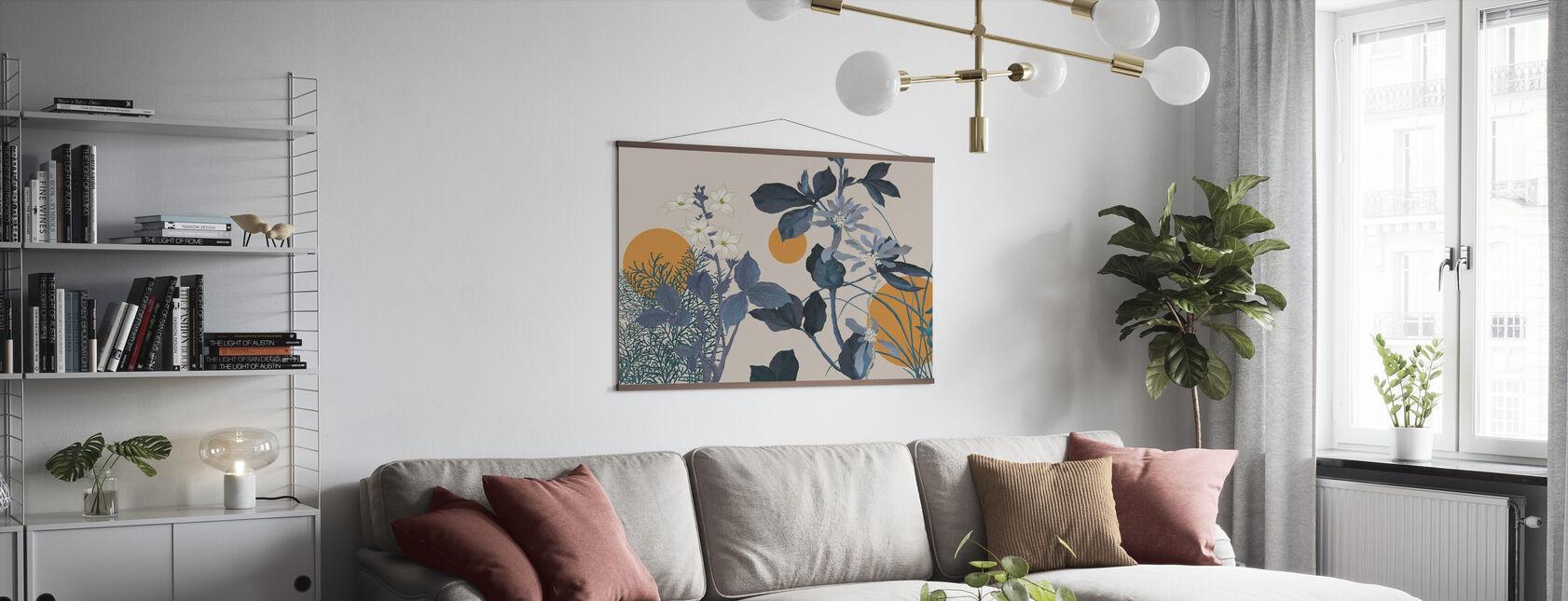 Flora Roman - Bleu - Affiche - Salle à manger