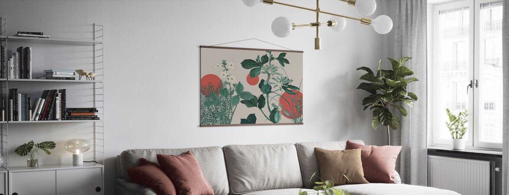 Flora Novel - Green - Poster - Living Room