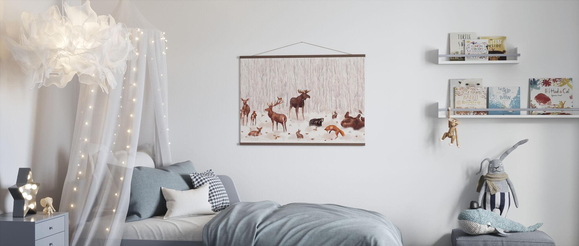 Vinterskogen Venner - Plakat - Barnerom