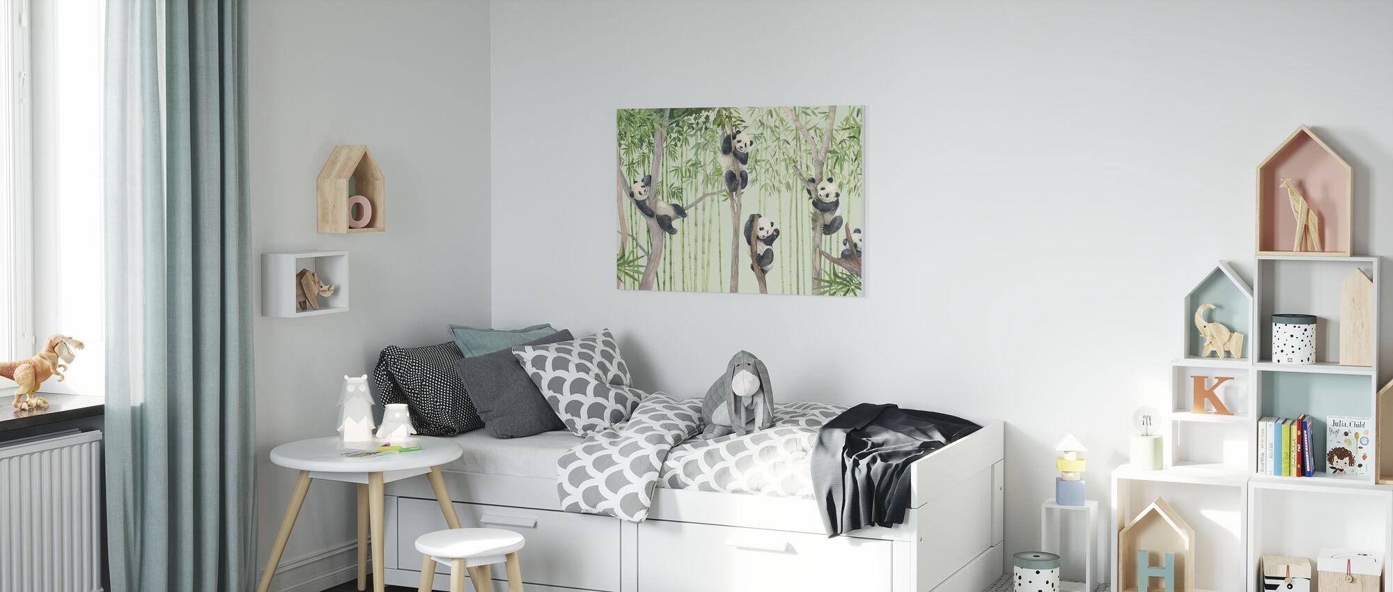 Panda-vrienden - Canvas print - Kinderkamer