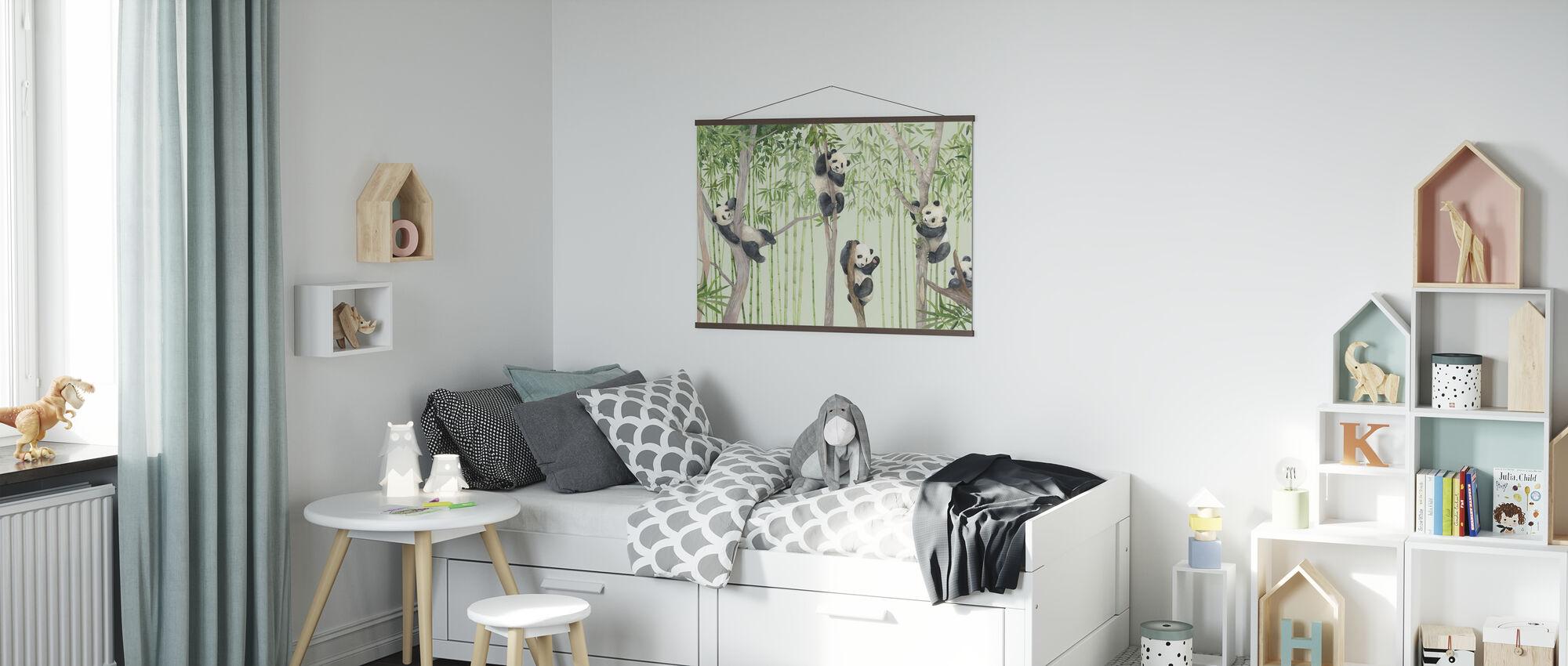 Panda-vrienden - Poster - Kinderkamer