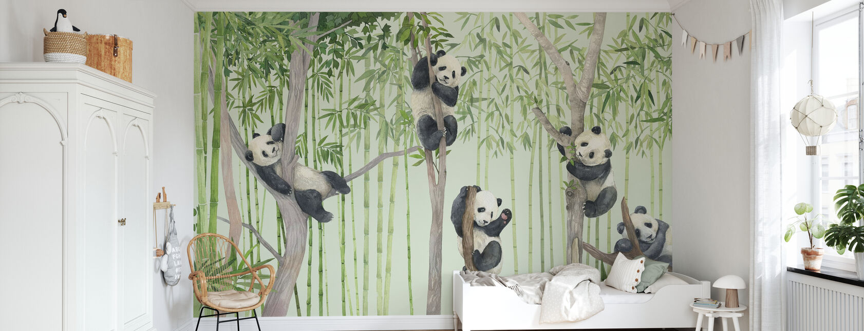 Panda Friends - Wallpaper - Kids Room