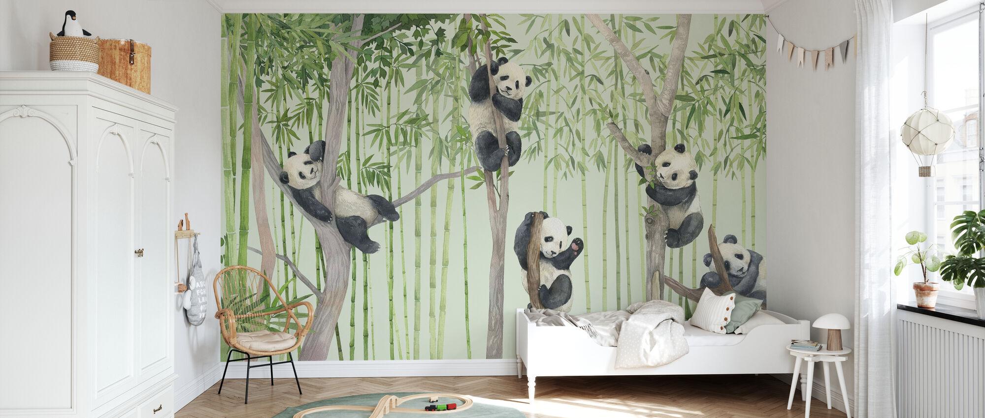 Panda Freunde - Tapete - Kinderzimmer