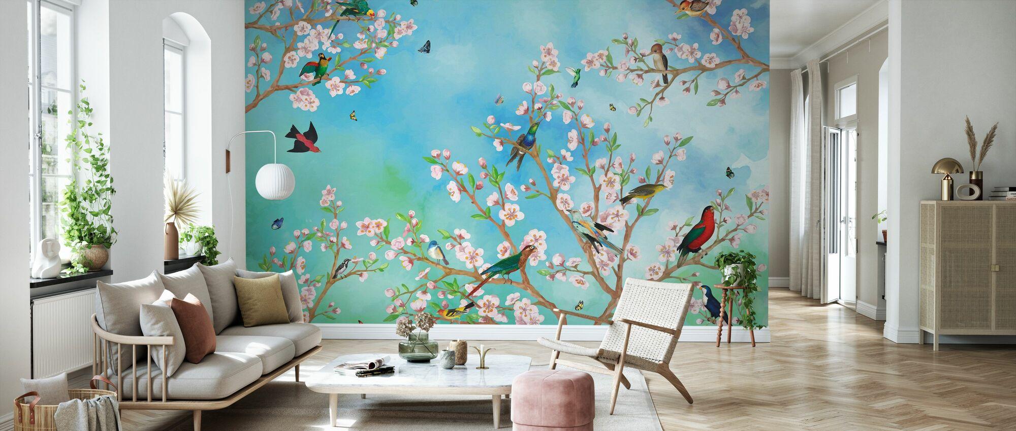 Sakura - Tapet - Stue