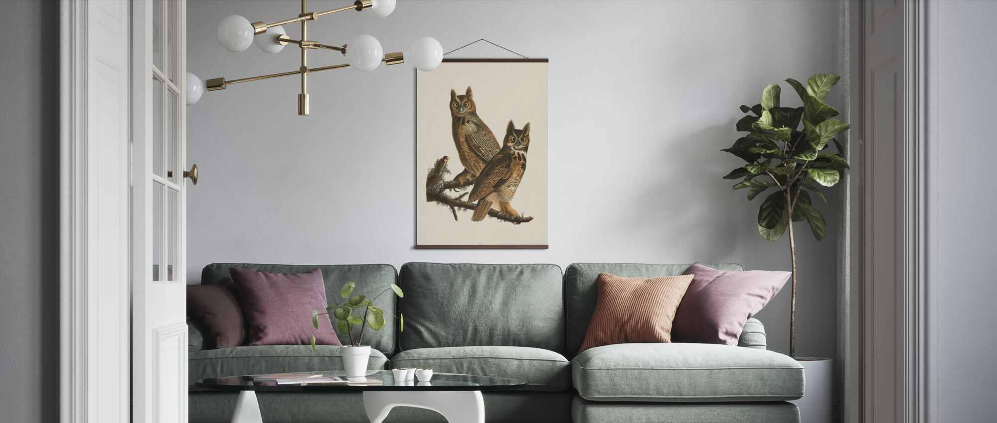 Great Horned Owl - Poster - Living Room