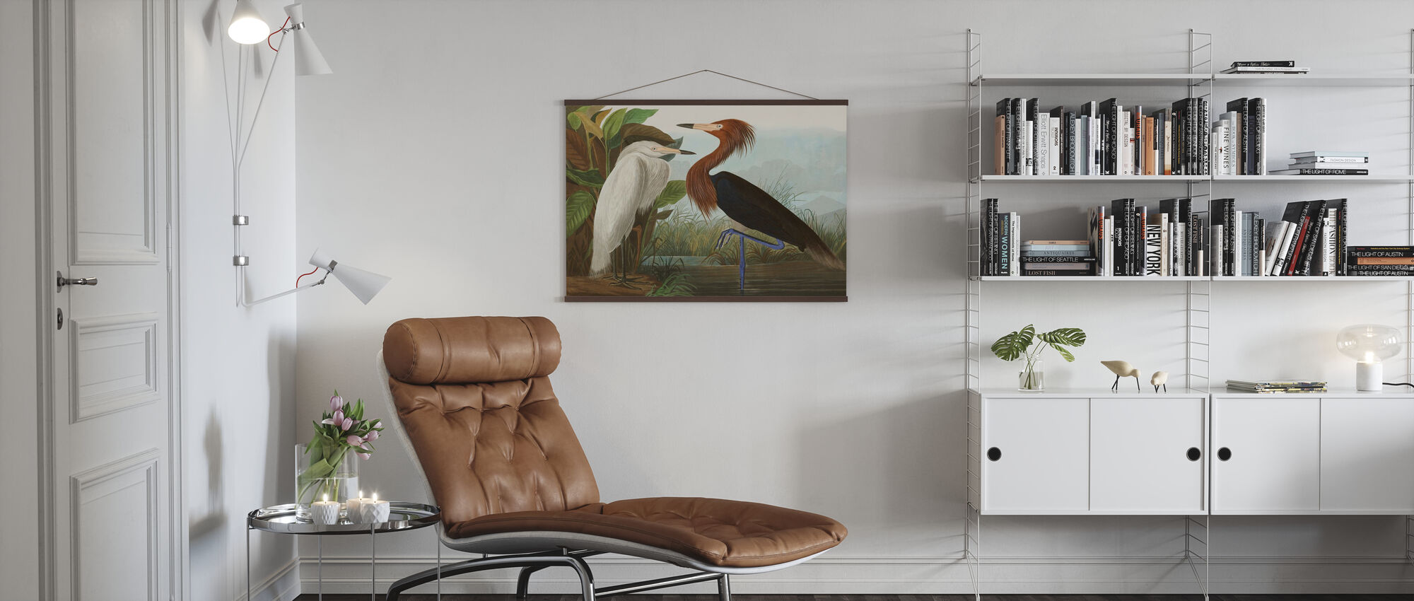 Purple Heron - Poster - Living Room