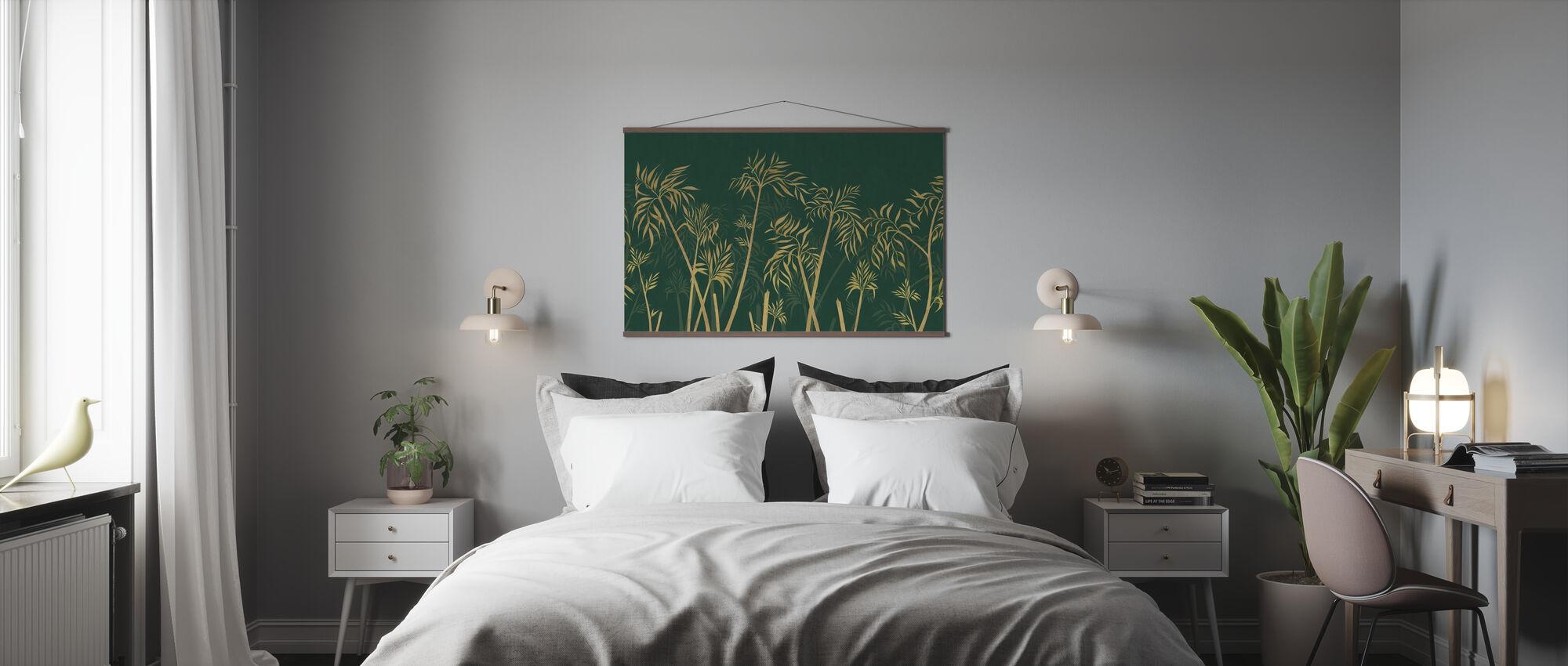 Bambus harmoni - grønn - Plakat - Soverom
