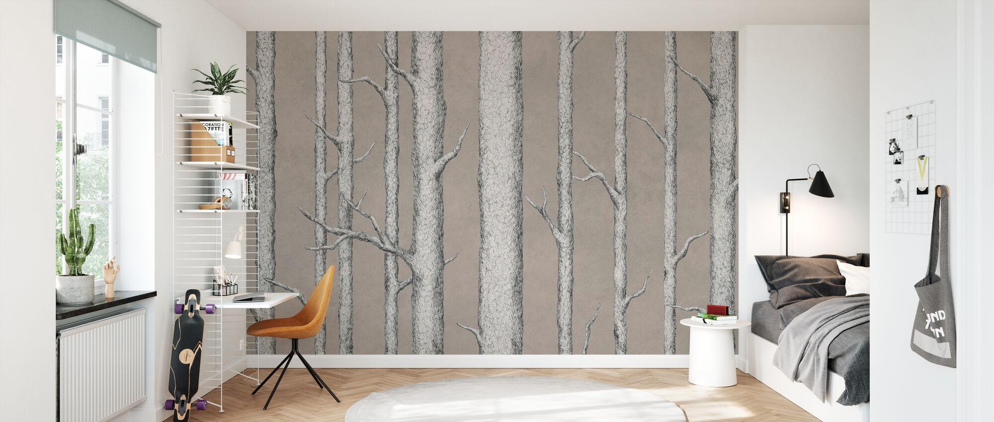 Tree Trunk V - Wallpaper - Kids Room