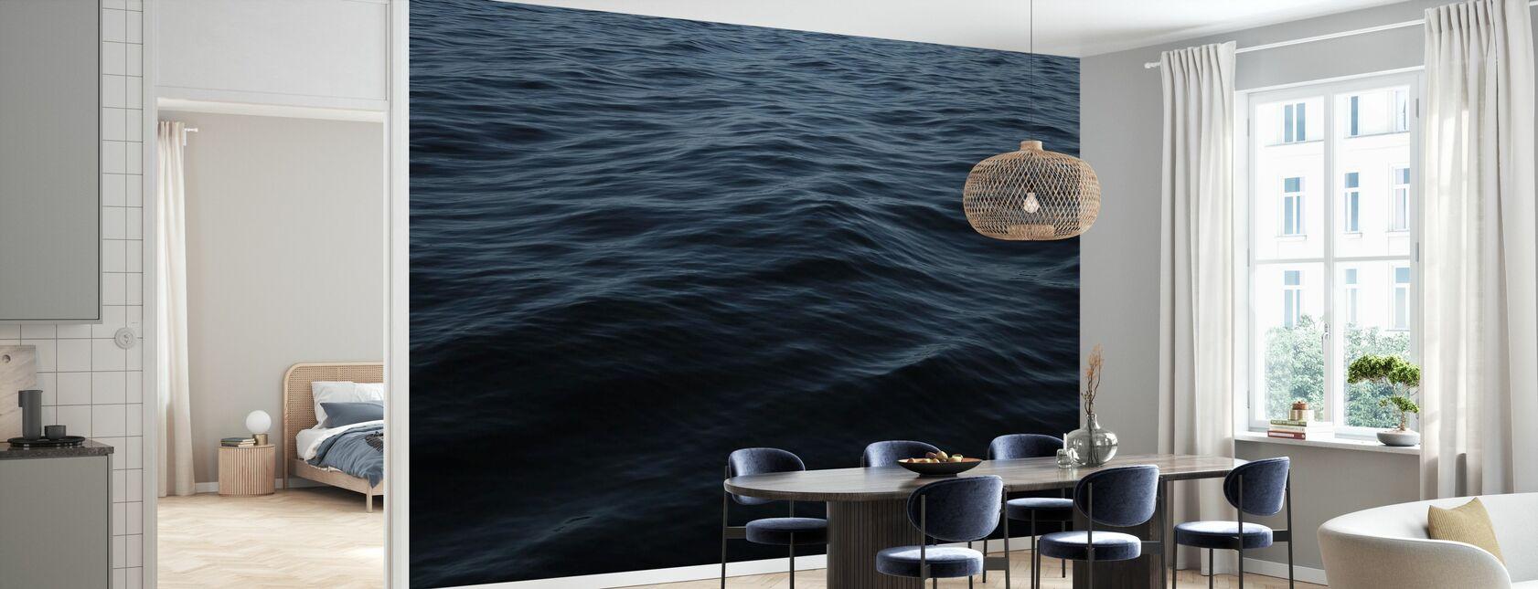 Blue Wave Still Abstract Water II - Wallpaper - Kitchen