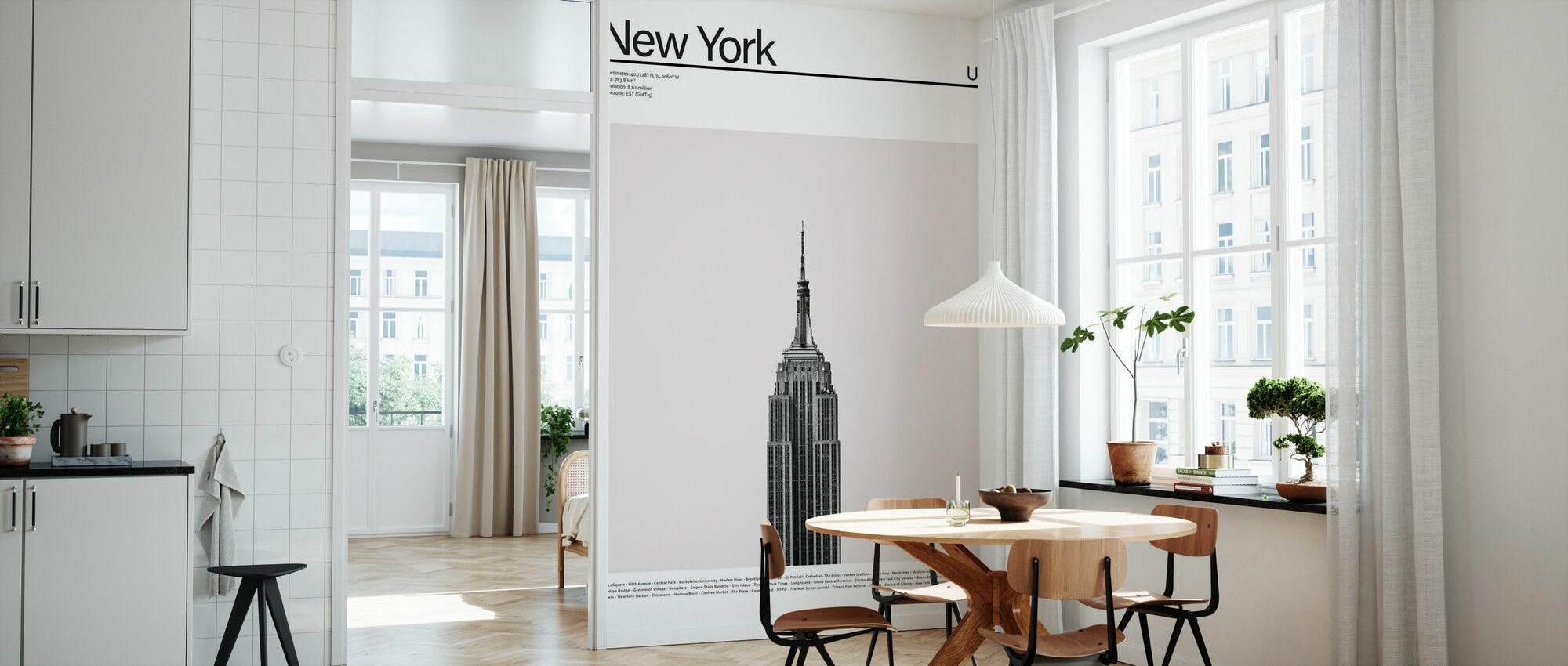 Stadt New York II - Tapete - Küchen