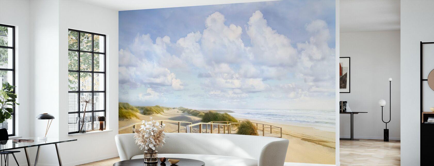 Beach Boardwalk - Wallpaper - Living Room