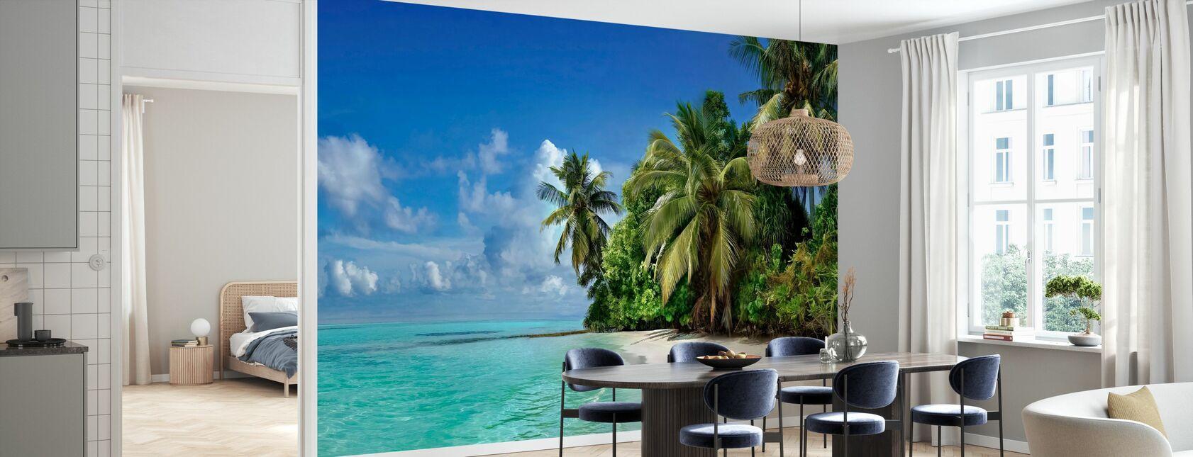 Strandstrand og palmer - Tapet - Kjøkken