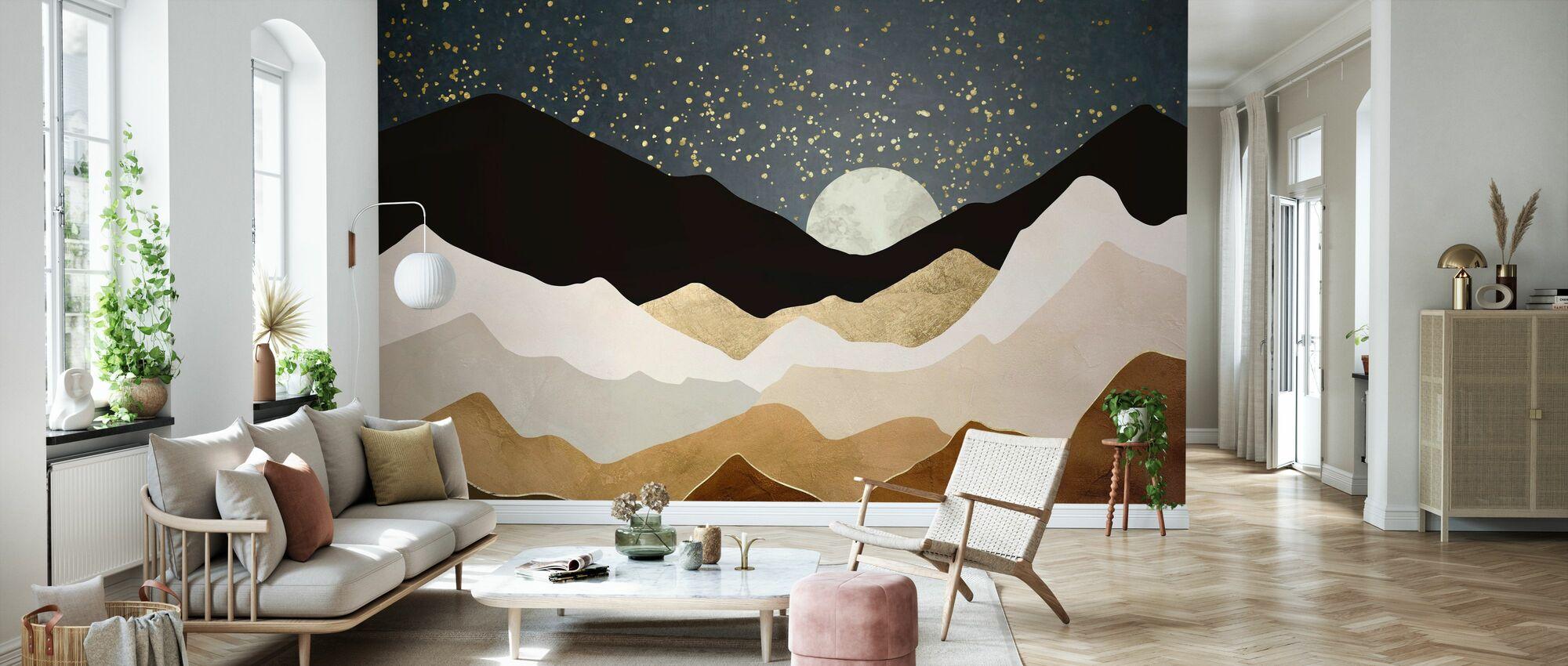 Golden Stars - Wallpaper - Living Room