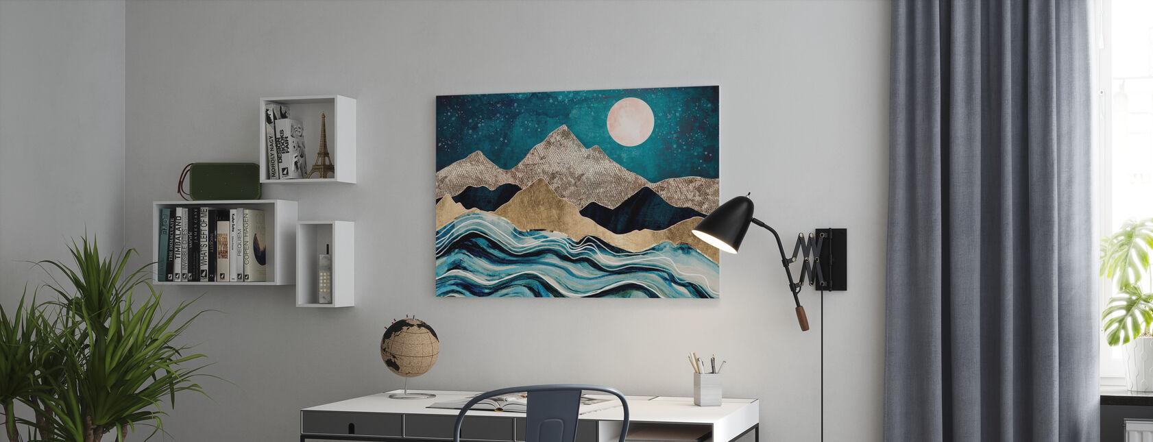 Mer d'Indigo - Impression sur toile - Bureau