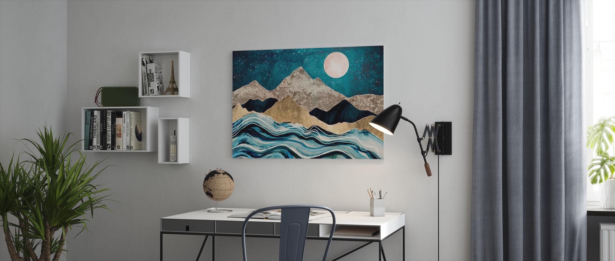 Indigo Meer - Leinwandbild - Büro