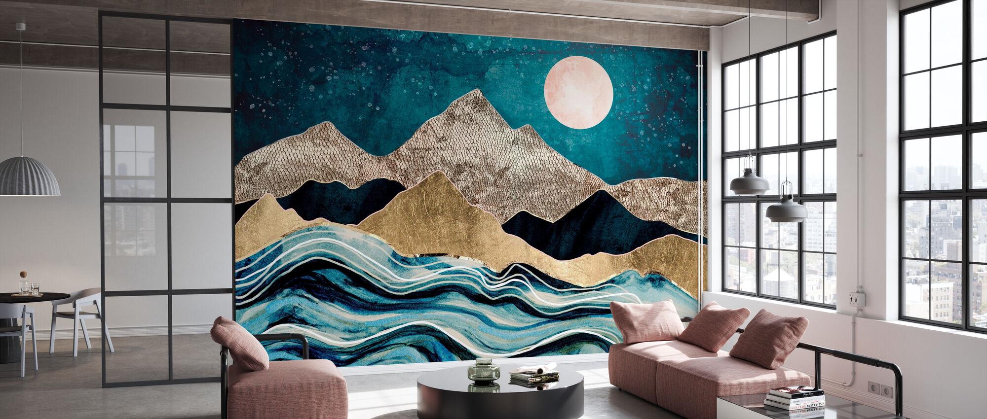 Indigo Sea - Wallpaper - Office