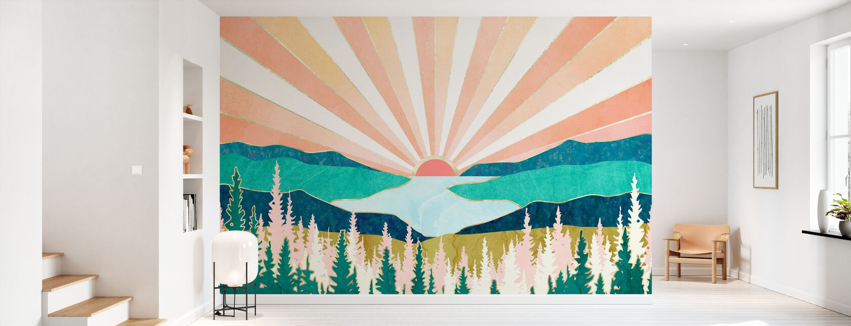 Puesta de sol de verano - Papel pintado - Corredor