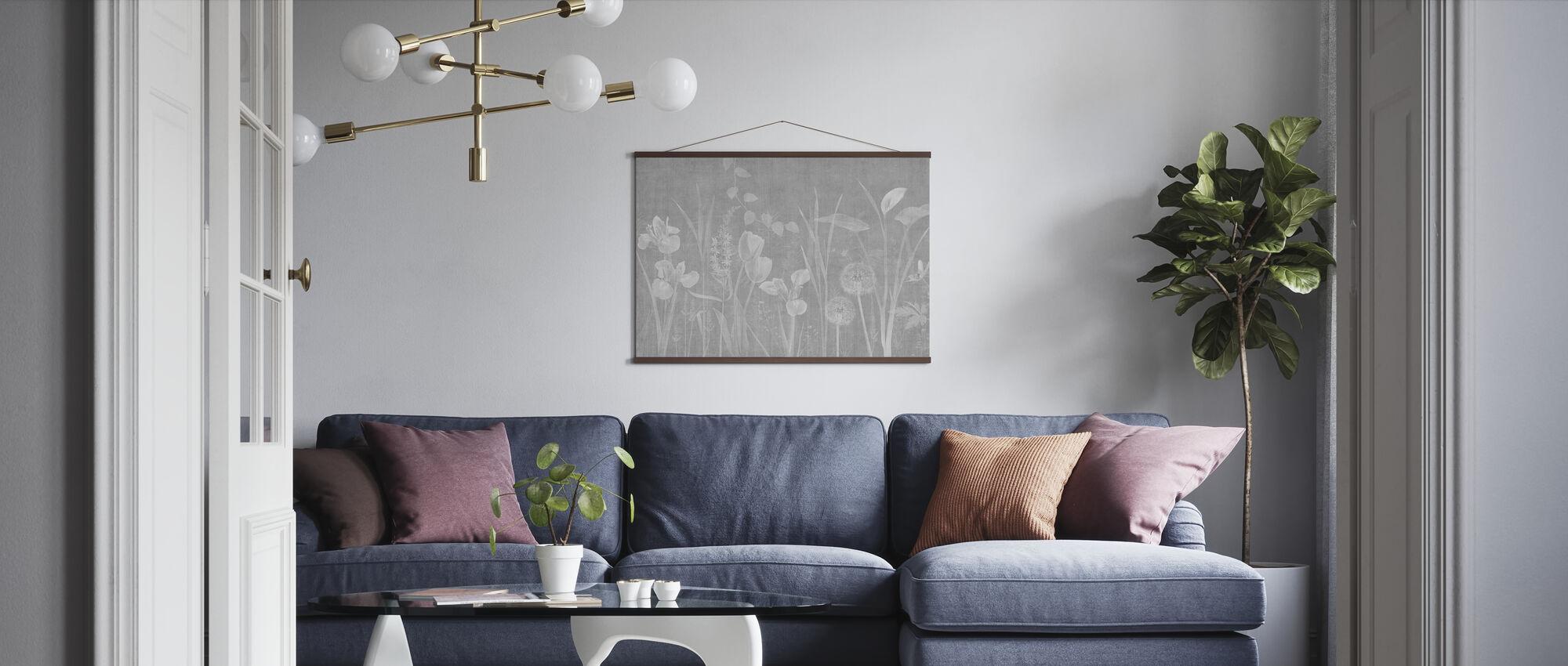 Dandelion Field - Ash - Poster - Living Room