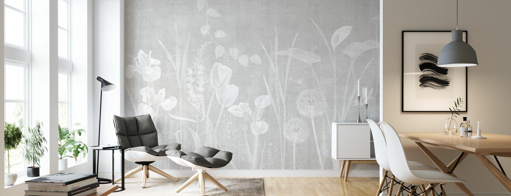 Dandelion Field - Ash Bright - Wallpaper - Living Room