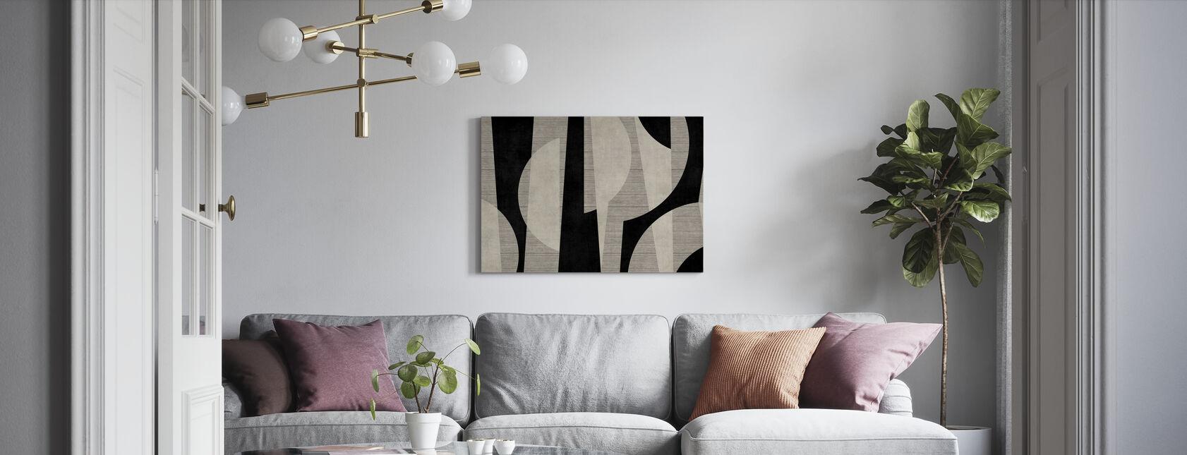 Ipanema Strand - Zwart - Canvas print - Woonkamer