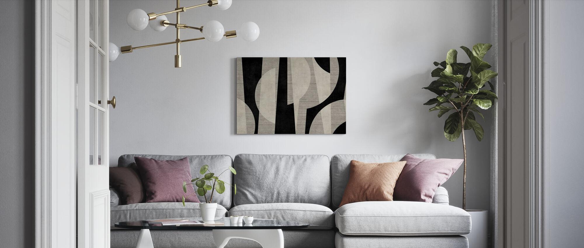 Ipanema Beach - Black - Canvas print - Living Room