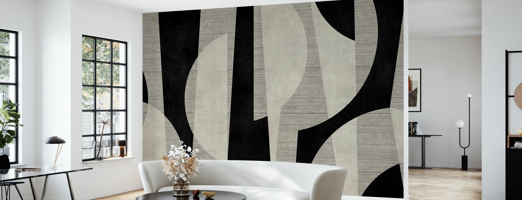 Ipanema Beach - Black - Wallpaper - Living Room