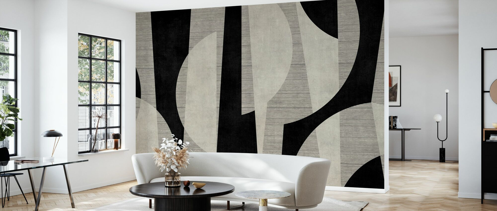 Ipanema Beach - Black - Wallpaper - Living Room