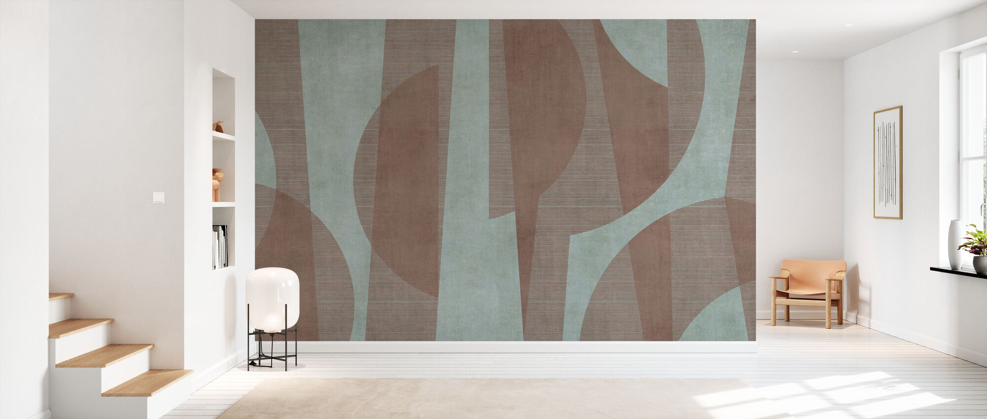 Ipanema Beach - Chestnut - Wallpaper - Hallway