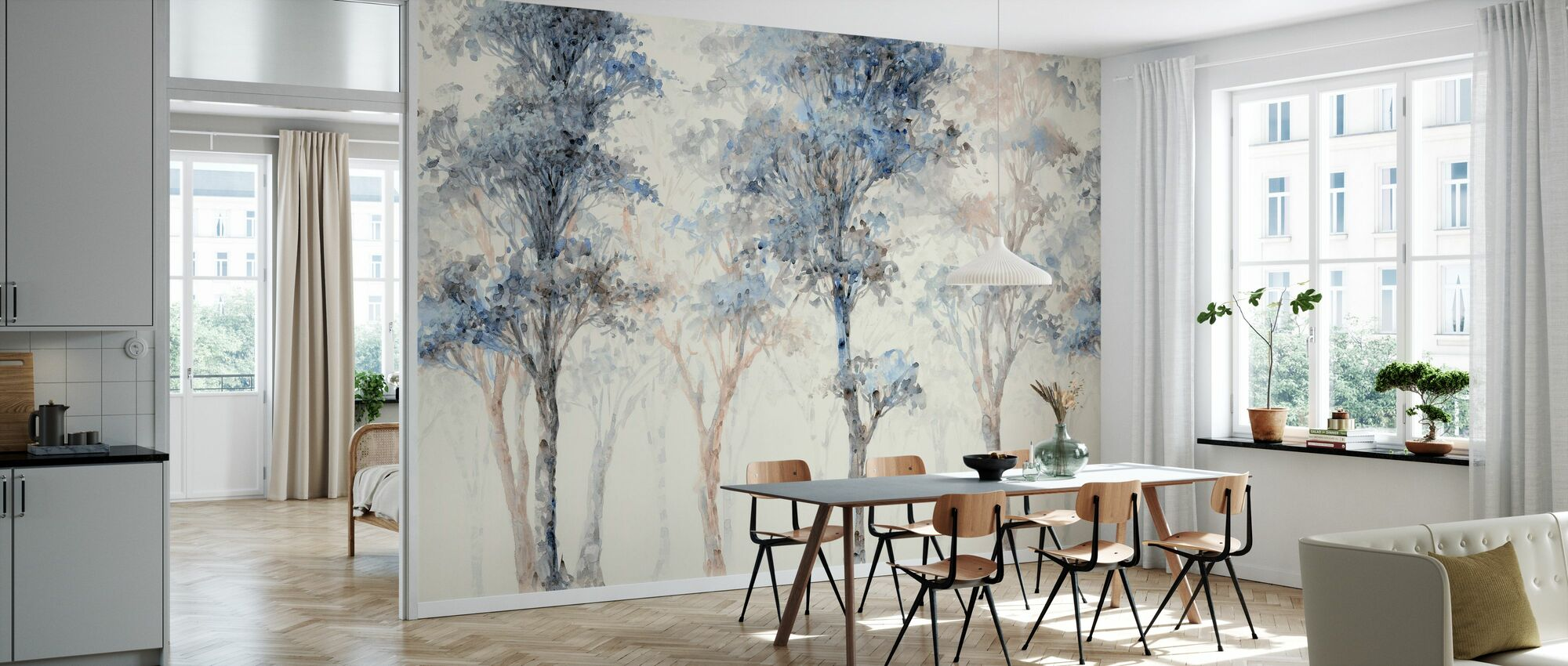 Seized by Trees - Wallpaper - Kitchen