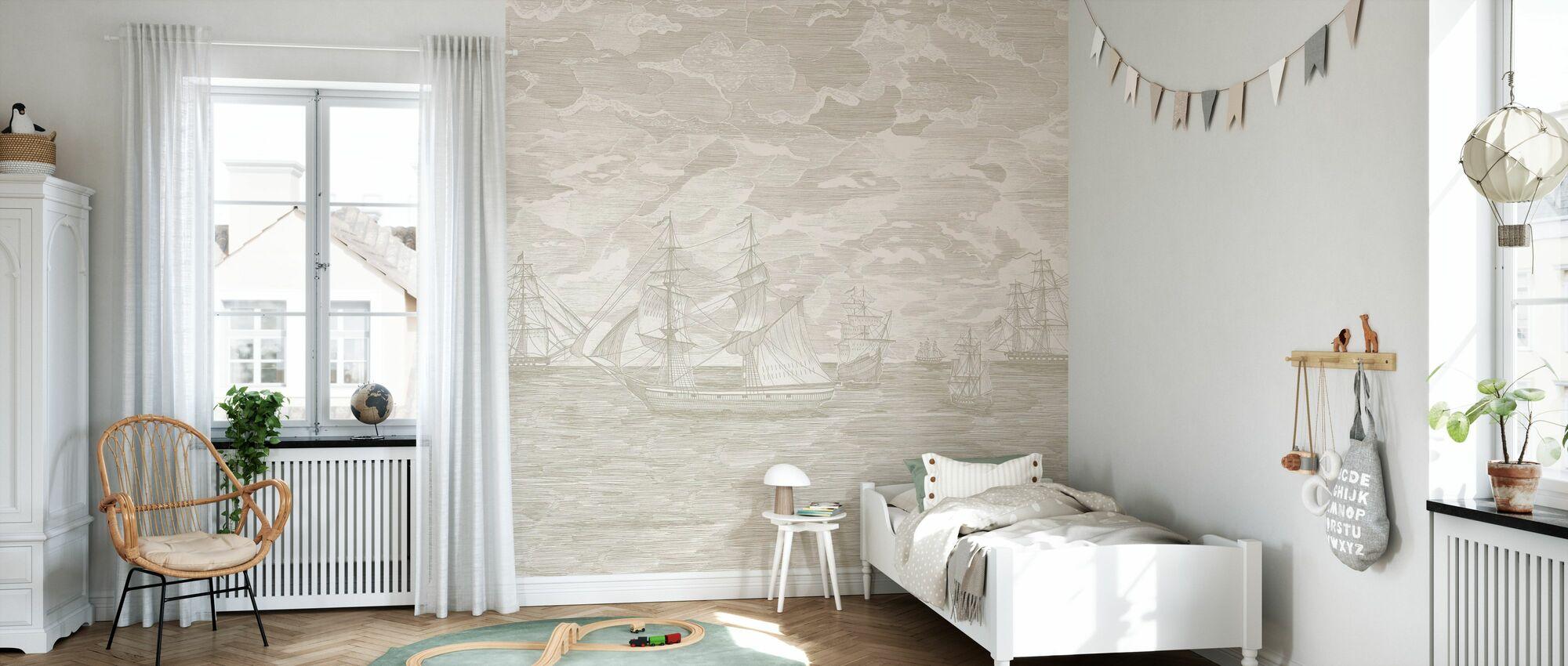 Sail Away - Cream - Wallpaper - Kids Room