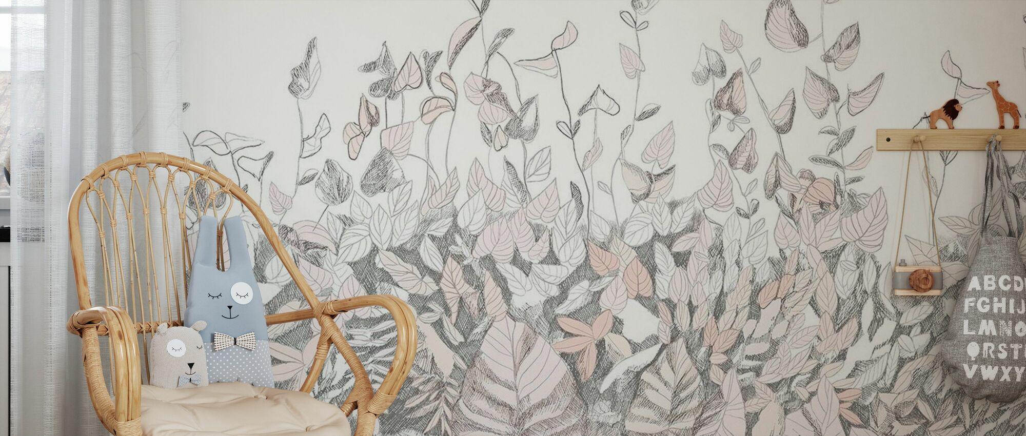 Secret Garden - Blush - Wallpaper - Kids Room
