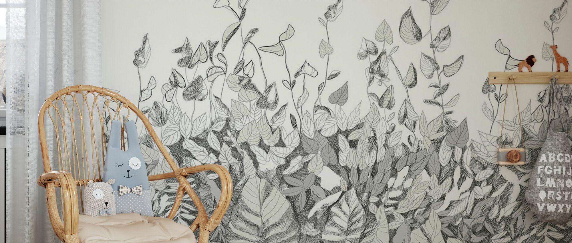 Jardin Secret - Menthe - Papier peint - Chambre des enfants