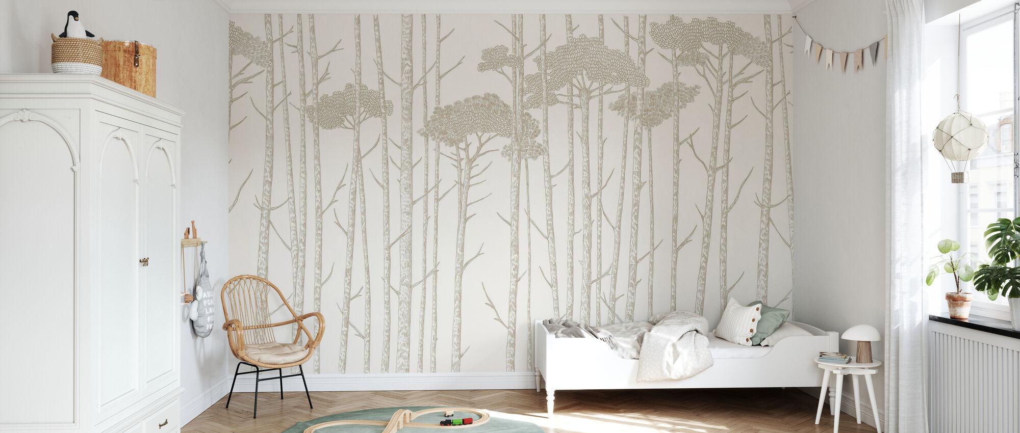 Tree Tops - Beige - Wallpaper - Kids Room