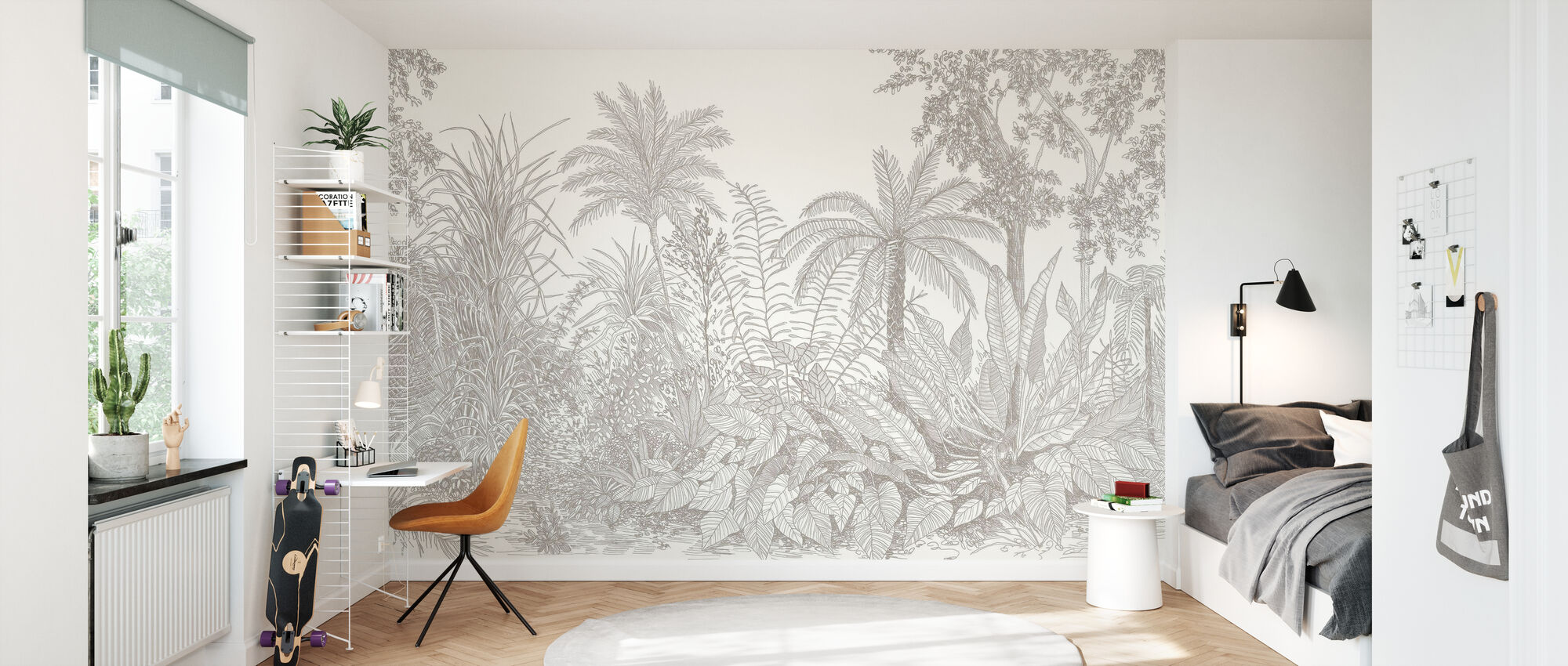 Tropica - Greige - Wallpaper - Kids Room