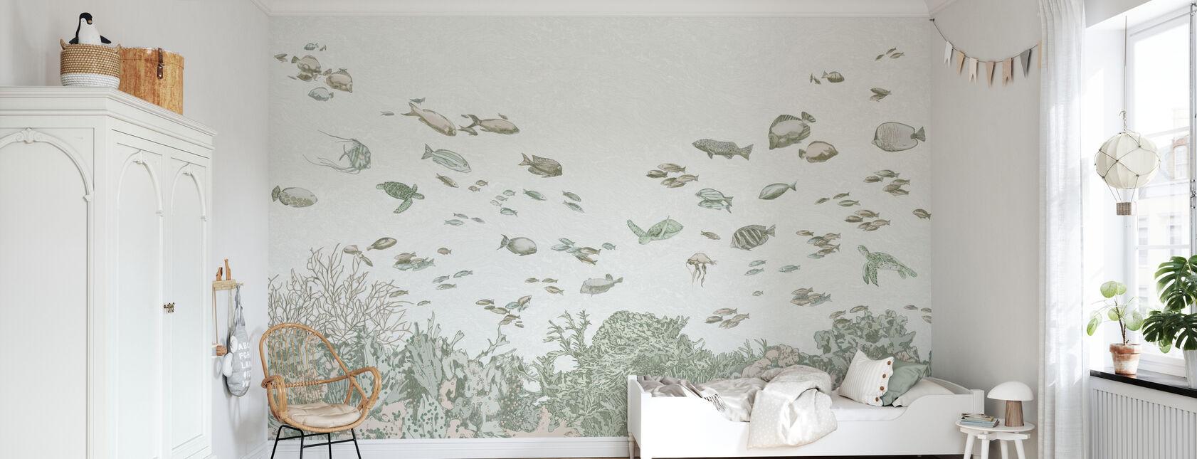 Bajo el mar - Verde - Papel pintado - Cuarto de niños