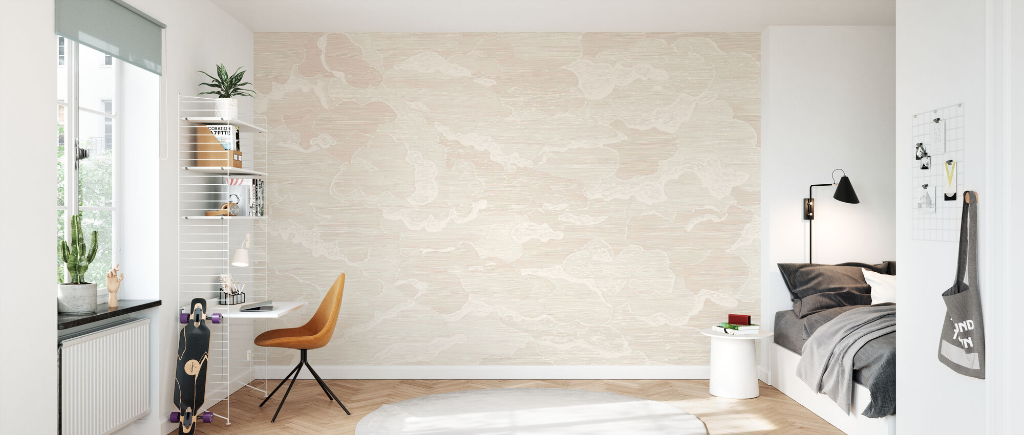 Up and Away - Blush - Wallpaper - Kids Room